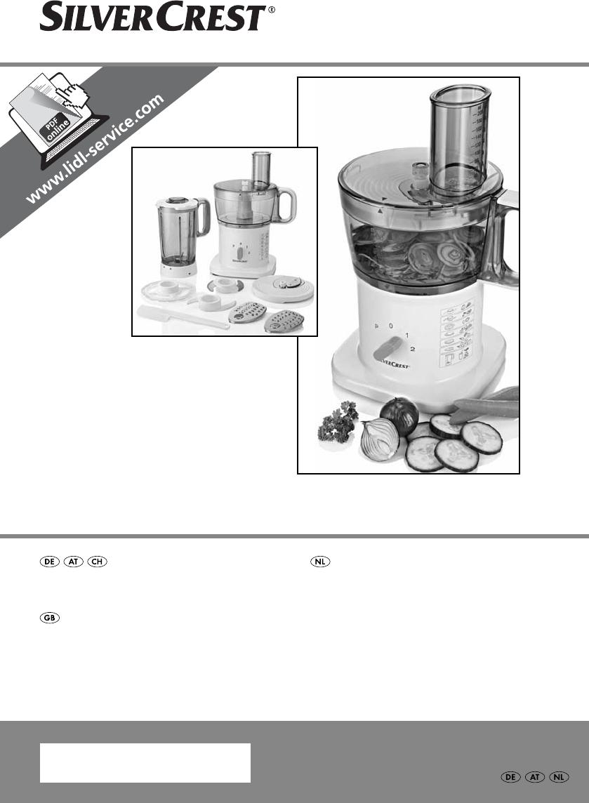 Bedienungsanleitung Silvercrest SKM 500 B1 - IAN 96056 (Seite 1 von ...