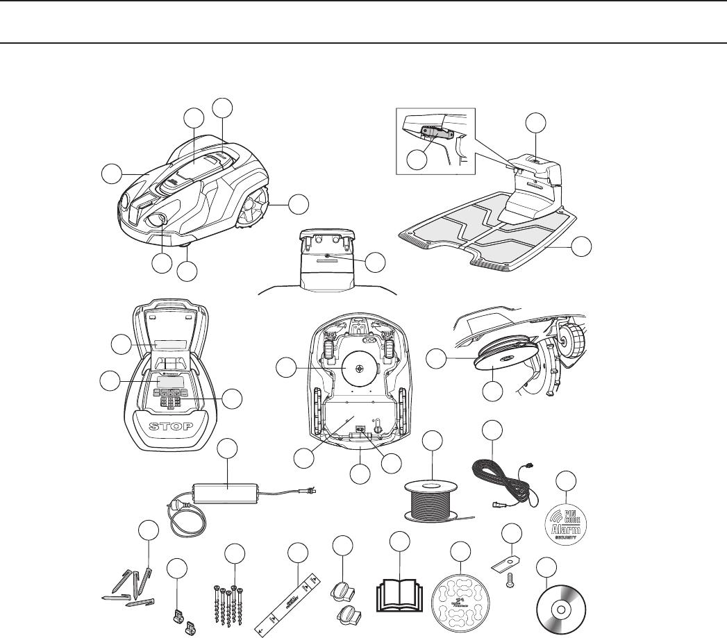bedienungsanleitung husqvarna automower 330x seite 7 von 48 deutsch franz sisch holl ndisch. Black Bedroom Furniture Sets. Home Design Ideas