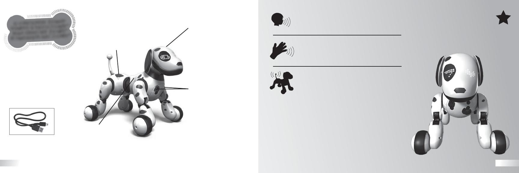 ZOOMER Spielzeughund interaktiv, lernt 27 Kommandos ab 5