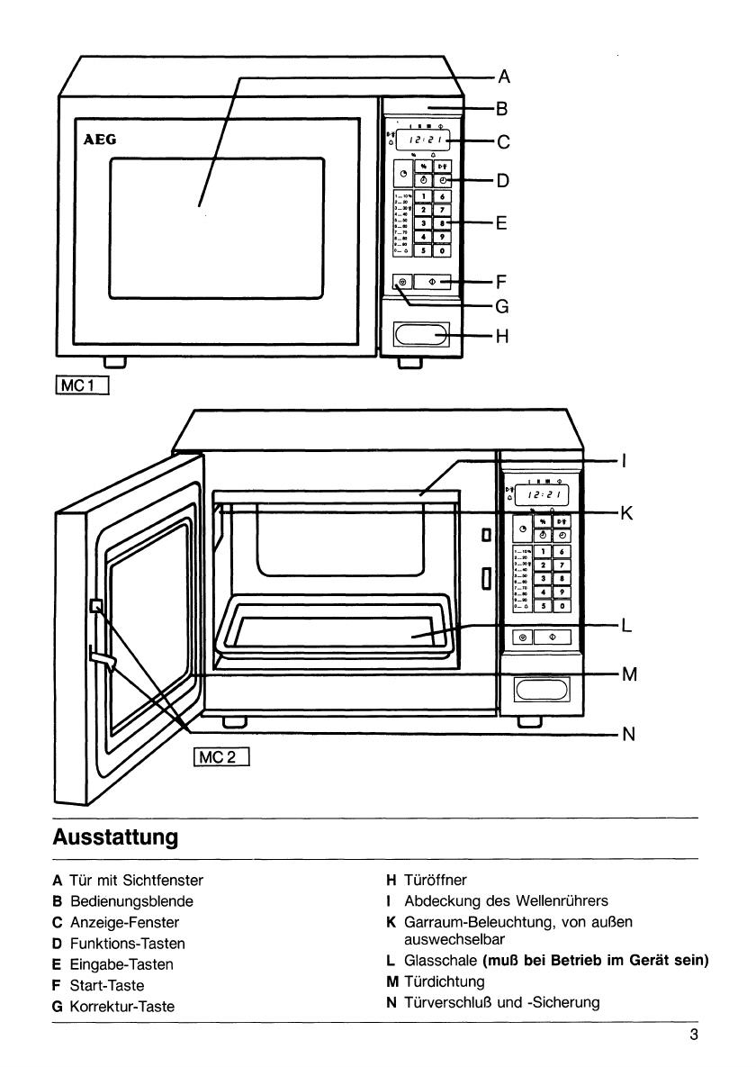 bedienungsanleitung aeg micromat combi 625 db seite 3 von 19 deutsch. Black Bedroom Furniture Sets. Home Design Ideas