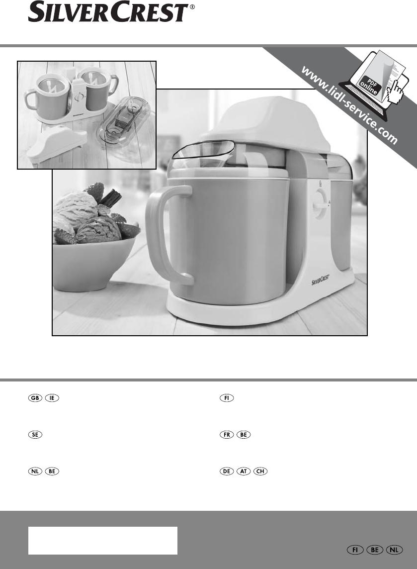 Silvercrest eismaschine bedienungsanleitung pdf