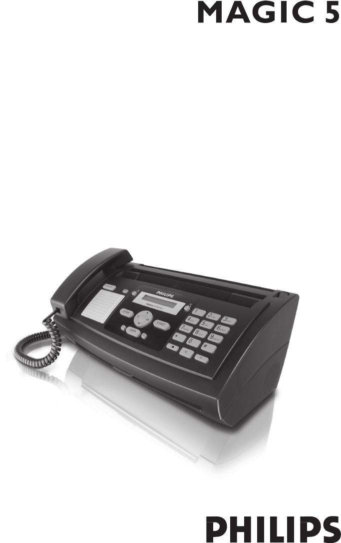 bedienungsanleitung philips magic 5 primo ppf631 seite 1 von 32 rh libble de philips magic 5 eco primo fax machine manual manuel fax philips magic 5 primo