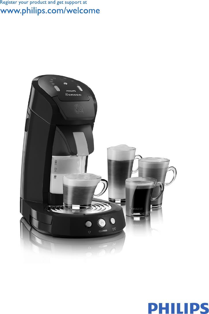 bedienungsanleitung philips hd 7850 senseo latte seite 1 von 102 deutsch englisch. Black Bedroom Furniture Sets. Home Design Ideas